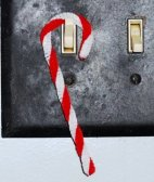 Candy Cane Hooked on Light Switch
