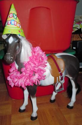 A party's not a party without a horse, of course!