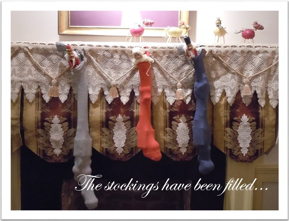 Stocking hung by the chimney