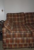 Brown Plaid Sofa