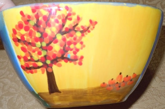Painted fall tree