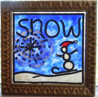 Painted Glass - Snow
