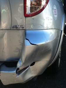 Damaged bumper