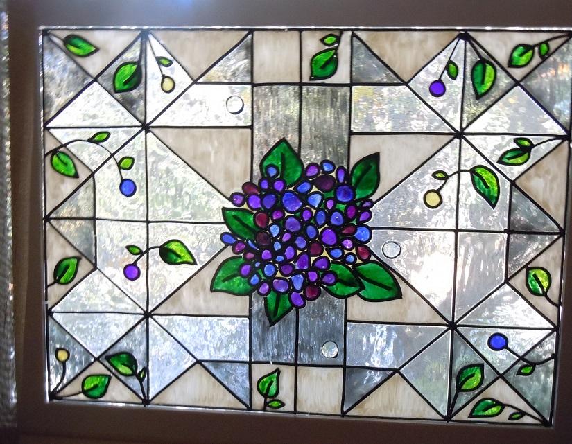 Hydrangea Window - Full