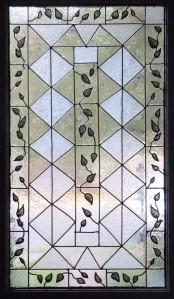 Front Door Painted Glass Window